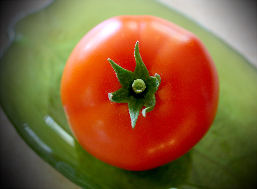 Happy, bright red tomato. Let's keep cooking!