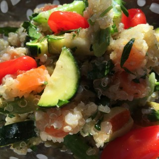 Food detox quinoa summer vegetable salad